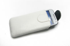 White Leather cases Royalty Free Stock Images