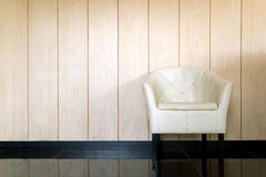 White leather chair. Home decoration Royalty Free Stock Photography