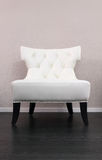 White leather comfortable armchair. One white leather comfortable armchair Stock Photos