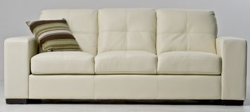 white leather couch royalty free stock images