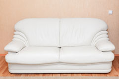 White leather couch in room interior Royalty Free Stock Images