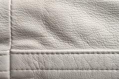White leather detail Stock Photo