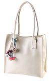 White leather ladies handbag Stock Photo