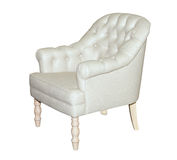 White leather modern chair isolated Royalty Free Stock Photography