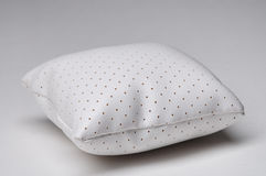 White leather pillow Stock Images