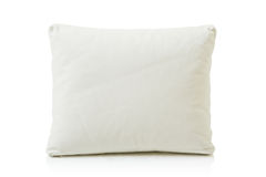 White leather pillow Royalty Free Stock Photo