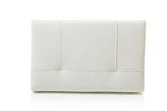 White leather pillow Royalty Free Stock Photography