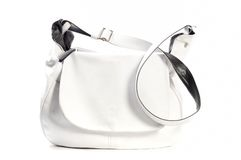 White leather purse Stock Images
