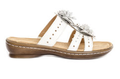 White Leather Sandals #4 Royalty Free Stock Photos