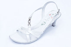 White leather shoe Royalty Free Stock Photography