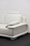 A white leather sofa Royalty Free Stock Photo