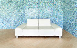 White leather sofa Royalty Free Stock Image