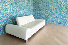 White leather sofa Royalty Free Stock Photo