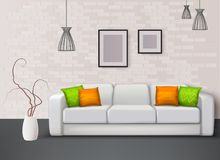 Interior Realistic Composition royalty free illustration