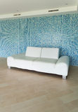 White leather sofa Royalty Free Stock Photos