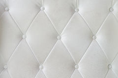 White leather sofa texture Stock Photography