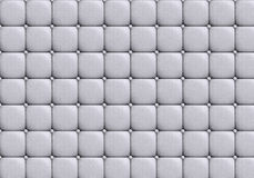 The white leather texture of the skin quilted Royalty Free Stock Image