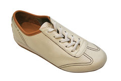 White leather trainee Stock Photography