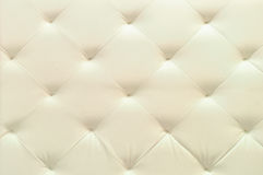 White leather upholstery. Background and texture Royalty Free Stock Photography