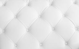 White leather upholstery for background royalty free stock photo
