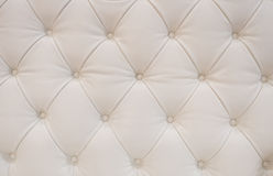 White leather upholstery Royalty Free Stock Photos
