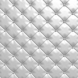 White leather upholstery luxury background Royalty Free Stock Photography