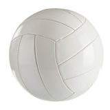 White leather volleyball  on a white Royalty Free Stock Images