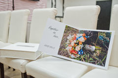 white leather wedding book Royalty Free Stock Photos