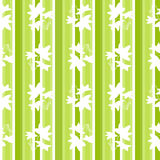 White leaves abstract seamless pattern texture green striped bac Stock Image
