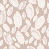 White leaves on a pale background, seamless pattern Stock Image