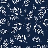 White leaves seamless pattern for design illustration EPS10 royalty free illustration
