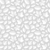 White Leaves Seamless Pattern Royalty Free Stock Photos