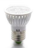 White LED Light Bulb Stock Photo