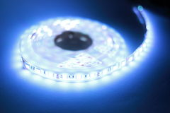 White LED strip light Stock Photography