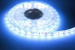 White LED strip light Royalty Free Stock Image