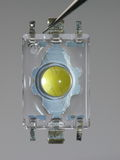 White LED. Yellow Core Royalty Free Stock Image