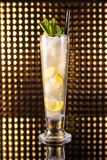 White lemon cocktail in tall glass stock photos
