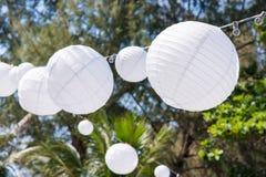 White lentern for wedding setup royalty free stock photos