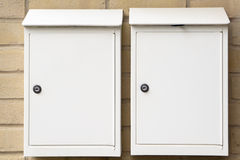 White letterbox Royalty Free Stock Image