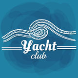 White Lettering Yacht Club Royalty Free Stock Photos