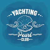 White Lettering Yachting Club Pearl Royalty Free Stock Photo
