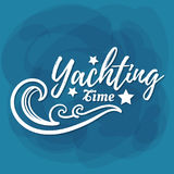 White Lettering Yachting Time Royalty Free Stock Photography