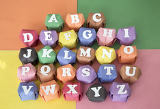 White 26 letters alphabet Stock Image