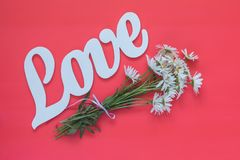White letters forming word LOVE written Royalty Free Stock Photography