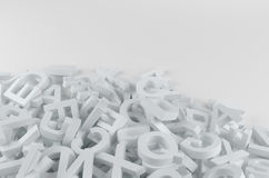 White letters Stock Photography
