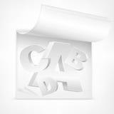 White letters symbol Stock Photo