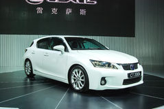 White Lexus. On the show Royalty Free Stock Photography