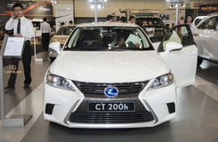 White Lexus ct 200h car Stock Photography