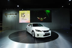 White Lexus ct200h Stock Image