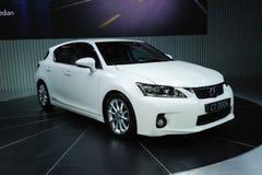 White Lexus ct200h Stock Images